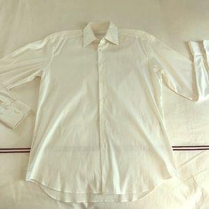 Men's Prada button down white shirt 39
